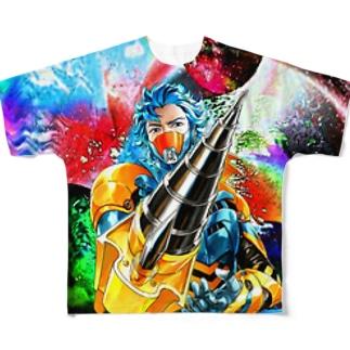 ジュエルセイバー背景の色変化  Full graphic T-shirts