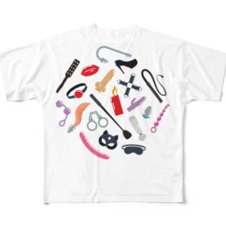 BDSM Icons (Color 01) All-Over Print T-Shirt