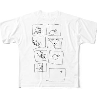 エビくんの漫画Tしゃつ Full graphic T-shirts