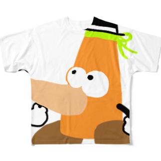 もぐら2段くん-LとXL Full graphic T-shirts
