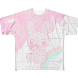 B.A.B.Y.うさぎ ♡。 Full graphic T-shirts