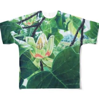 山笑う ビッグシルエットTシャツ Full graphic T-shirts