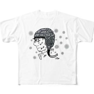 キャシーらしい。のラグビー選手のまなざし Full graphic T-shirts