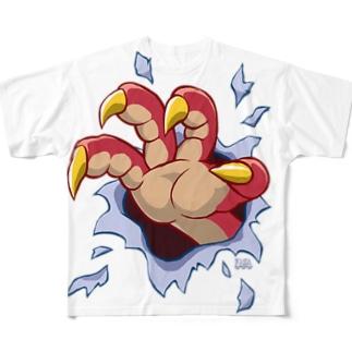 飛び出せドラゴンハンド! Full graphic T-shirts