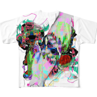 ほにほにわーるどうぉーの絶望 Full graphic T-shirts