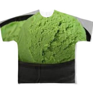 アイス食べたい(^q^) Full graphic T-shirts