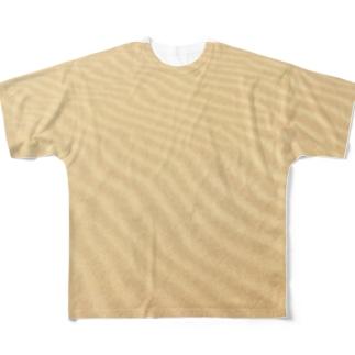鳥取砂丘の砂紋 Full graphic T-shirts