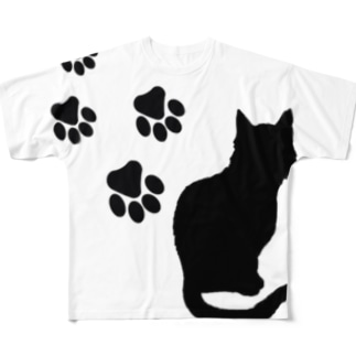 XennyStoreの猫の足跡 Full graphic T-shirts