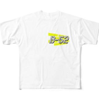 すけさぁん…のB-52(ヒヒ風ロゴ) Full graphic T-shirts