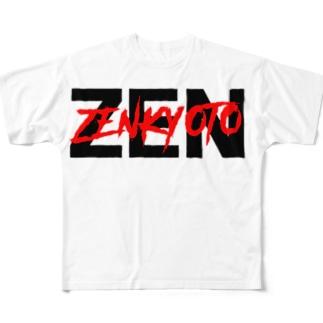 ZENダブルロゴ Full graphic T-shirts