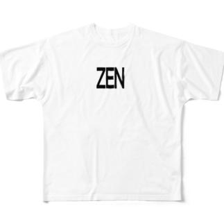ZEN【BIGLOGO】 Full graphic T-shirts