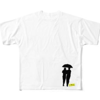 相合傘T(右下) Full graphic T-shirts