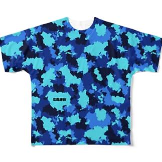 広島迷彩(瀬戸) Full graphic T-shirts