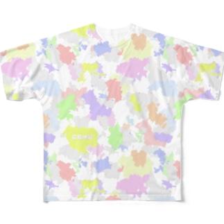 広島迷彩(薄虹) Full graphic T-shirts
