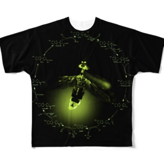 ホタルの発光回路ver.2 Full graphic T-shirts