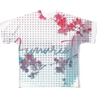 キューブ 花 Full graphic T-shirts
