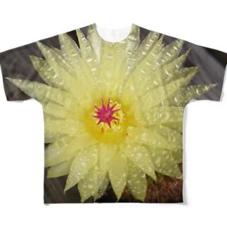 サボテンの花 Full graphic T-shirts