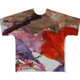 踊り子 Full graphic T-shirts