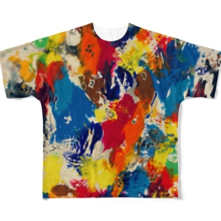 ZOXマーブルカモ Full graphic T-shirts