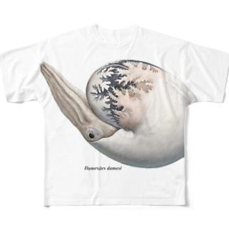 Damesites damesi(アンモナイト) Full graphic T-shirts