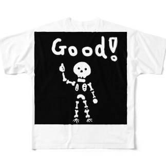 ぐっどガイコツ Full graphic T-shirts
