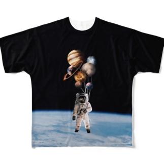 まんまるうちゅう君 Full graphic T-shirts