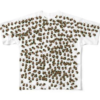 びっしりくん(玉虫色) Full graphic T-shirts