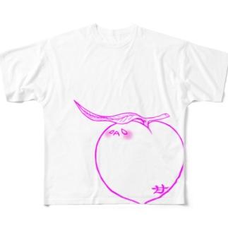 甘桃 Full graphic T-shirts