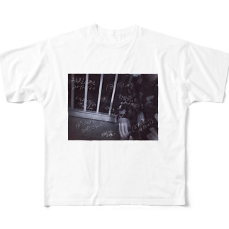 夜のベランダt Full graphic T-shirts
