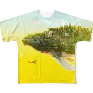 くじらの惑星type2 Full graphic T-shirts
