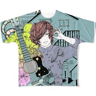 彼氏 Full graphic T-shirts