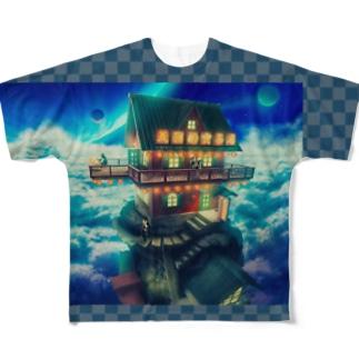 熱烈歓迎!天国的喫茶店カラーバージョン  Full graphic T-shirts