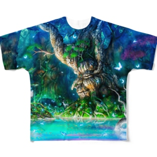 ウエダマサノブ@アトリエ縄文じいさんのモルフィウス姫の墓  Full graphic T-shirts
