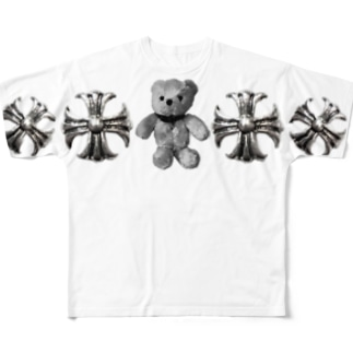 Greek Crosses Teddy - monochrome Full graphic T-shirts