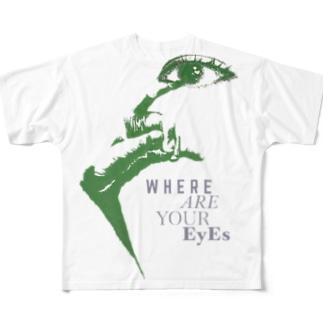 お前の目は節穴か Full graphic T-shirts