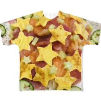 かいせん Full graphic T-shirts