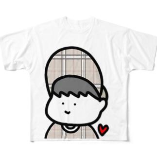 ぼうしのつばも人生もいつだって上向き! Full graphic T-shirts