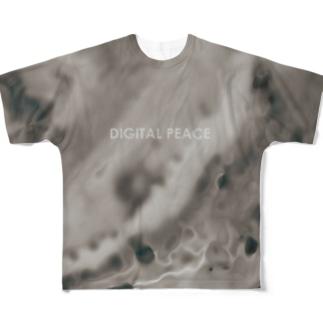デジタルタイダイ Full graphic T-shirts
