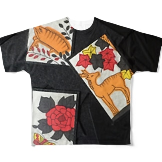 猪鹿蝶 Full graphic T-shirts