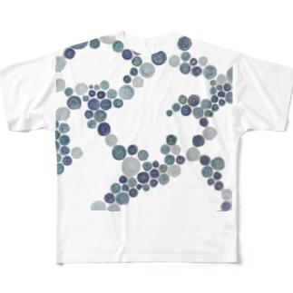 青いタイル Full graphic T-shirts