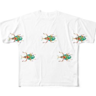 ゾウムシくん(たくさん) Full graphic T-shirts