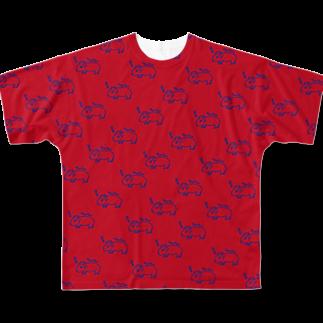 CHEBLOの半目のヤンチー Full graphic T-shirts
