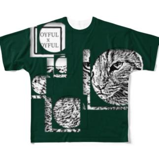 1枚限定デザイン! JOYFUL x JOYFUL No.a1 緑闇 Full graphic T-shirts