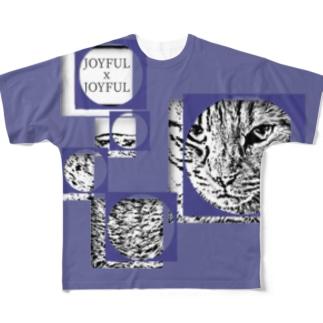 1枚限定デザイン! JOYFUL x JOYFUL No.a1 紅掛花色 Full graphic T-shirts