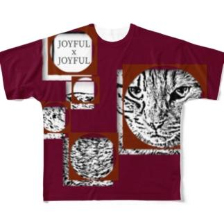 1枚限定デザイン! JOYFUL x JOYFUL No.a1 葡萄色 Full graphic T-shirts