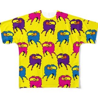 犬的なやつ【黄】 Full Graphic T-Shirt