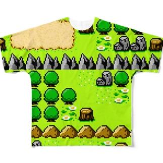 フィールドマップマン(8BIT) Full graphic T-shirts
