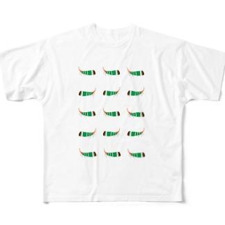 テングビワハゴロモちゃんたくさん携帯カバー Full graphic T-shirts