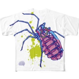 グレネード蜘蛛 Full graphic T-shirts