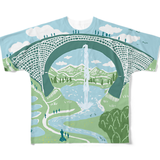 OW STOREのTSUJUNKYO イラストフルカラー Full graphic T-shirts
